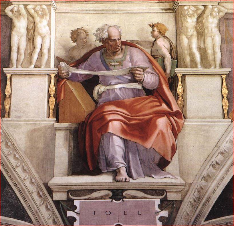 Michelangelo Buonarroti: Il profeta Gioele sulla volta della Cappella Sistina
