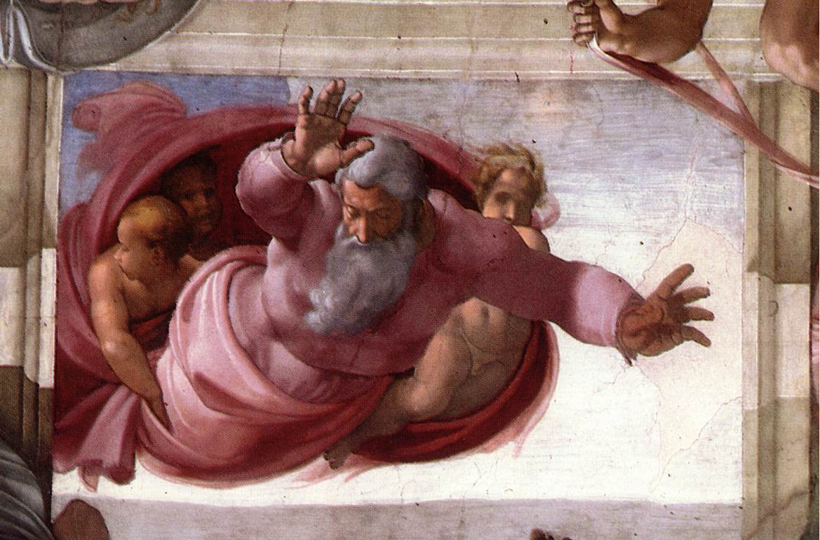 Michelangelo: La separazione della terra dalle acque