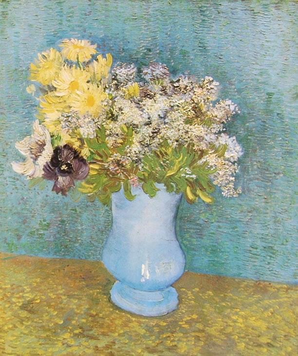 Vincent van Gogh:Vaso con lillà e margherite
