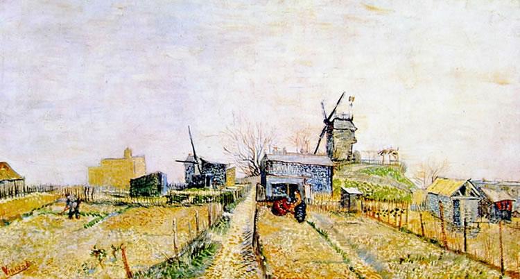 Vincent van Gogh:Veduta a Montmartre col mulino de la Galettè