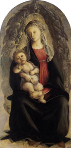 Botticelli madonna in gloria di serafini