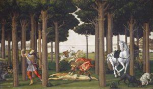 Botticelli: Storie di Nastagio degli Onesti - Uccisione della donna