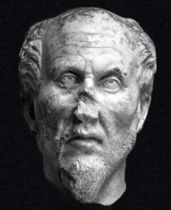 La testa, identificata come quella di Plotino, plausibile ma non esiste una prova a riguardo.