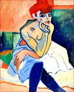 Andre Derain - Donna in camicia, 1918