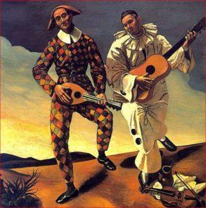 Andre Derain - Arlecchino e Pierrot, 1924.