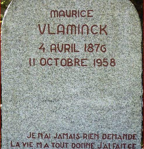 Lapide della tomba di di Maurice Vlamink