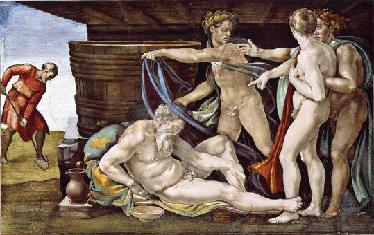 Michelangelo - Ebbrezza di Noè - volta della Cappella Sistina