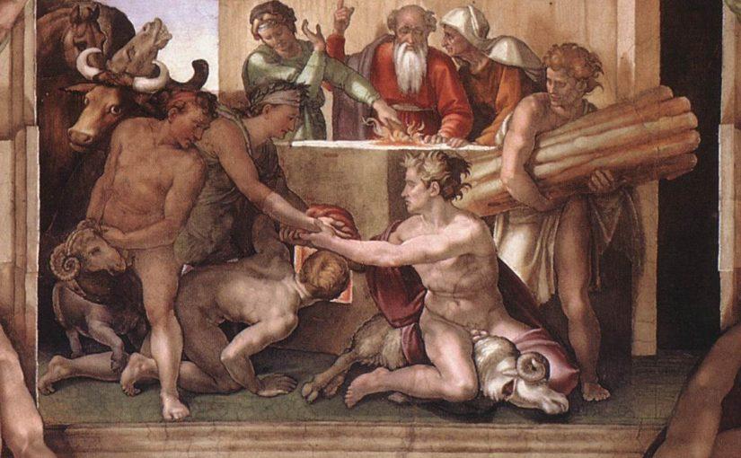 Il Sacrificio di Noè nella volta della Cappella Sistina