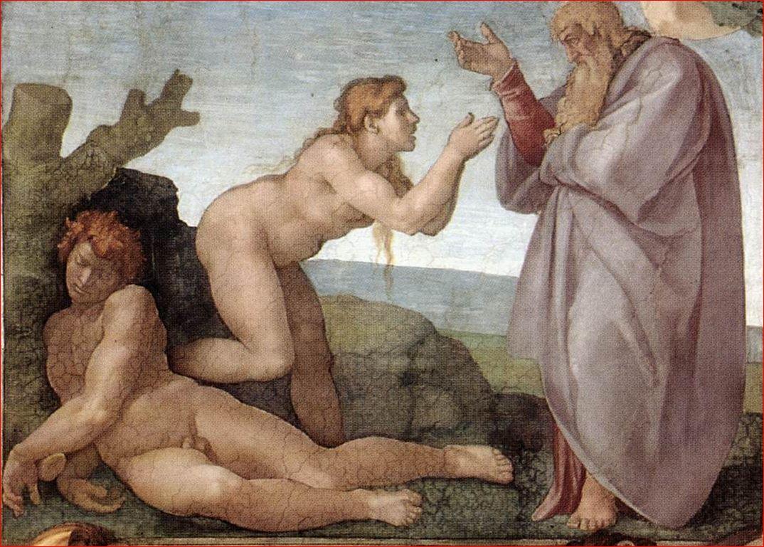 Michelangelo Buonarroti: la Creazione di Eva nella Volta della Cappella Sistina