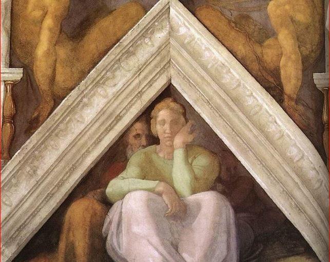 Vela e lunetta con Iesse, Davide e Salomone nella volta della Cappella Sistina