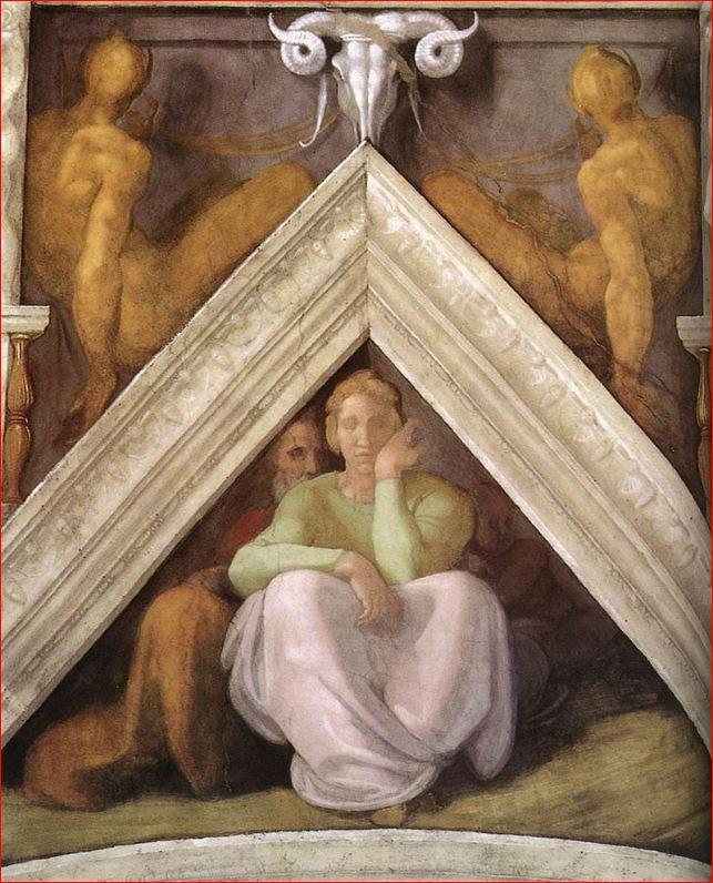 Michelangelo Buonarroti: Vela sopra Iesse, Davide e Salomone, 245 x 340 cm, intorno agli anni 1511-12