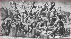 Battaglia di Cascina, intorno agli anni 1505-1506, affresco parietale, Palazzo Vecchio, Firenze