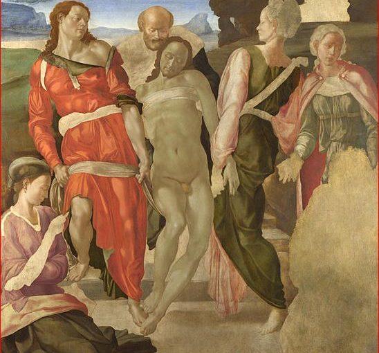 Deposizione di Cristo nel sepolcro di Michelangelo Buonarroti
