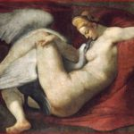 Michelangelo: Copia di Leda e il cigno attribuita a Rosso Fiorentino, anno 1530, tecnica a tempera