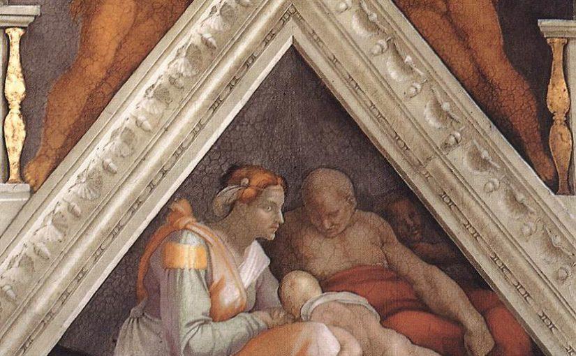 Vela e lunetta con Zorobabele, Abiud ed Eliacim – Cappella Sistina