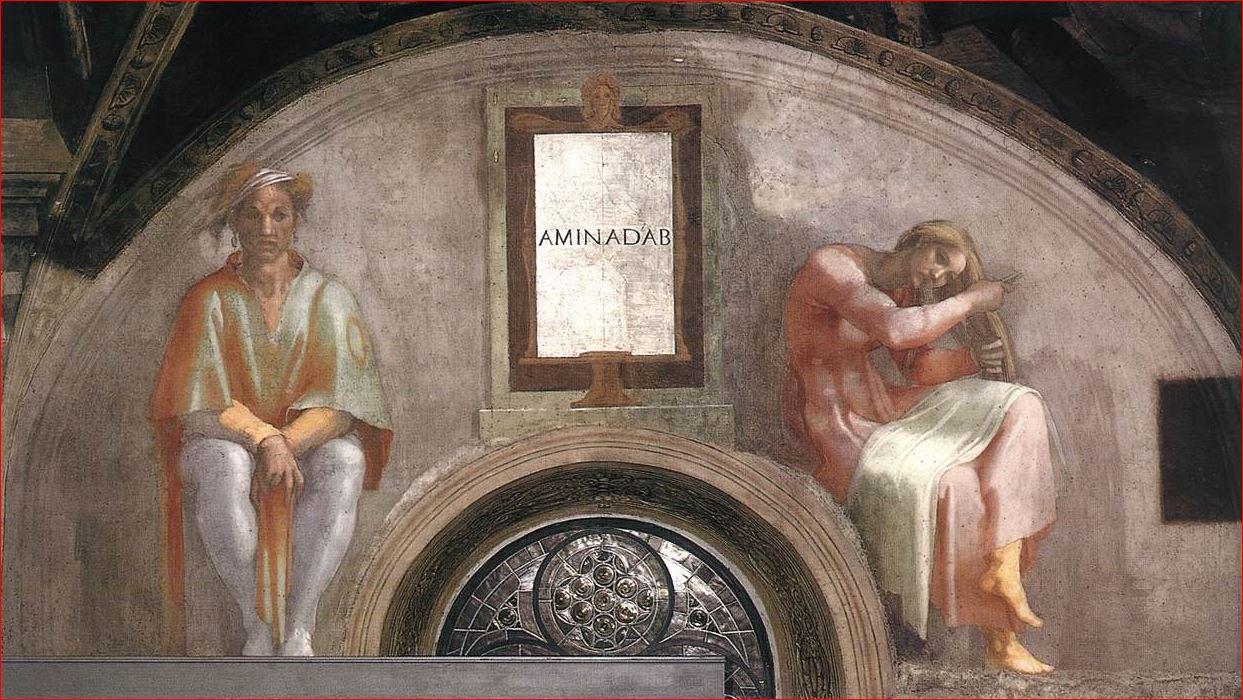 Michelangelo Buonarroti: Lunetta con Aminabad, intorno al 1511-12
