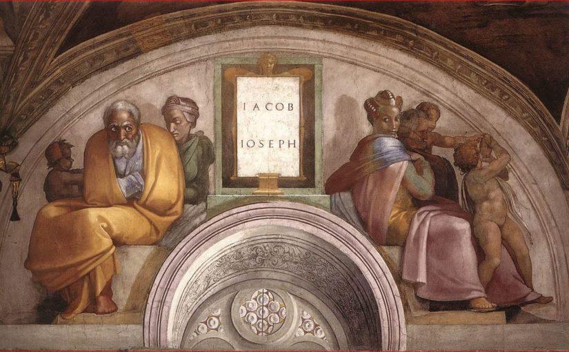 La lunetta con Giacobbe e Giuseppe nella Cappella Sistina