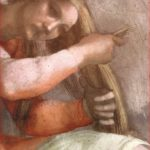 Michelangelo: Particolare di della donna nella lunetta di Aminabad