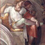 Michelangelo: particolare di destra della lunetta con Eleazar e Mattan.