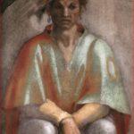 Michelangelo: Particolare di Aminabad, lunetta della Cappella Sistina.