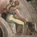 Michelangelo Buonarroti: particolare destro della lunetta con Achim e Eliud