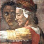 Michelangelo Buonarroti: particolare di sinistra della lunetta con Eleazar e Mattan, Cappella Sistina