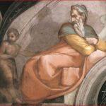 Michelangelo Buonarroti: particolare sinistro della lunetta con Achim e Eliud