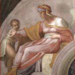 Michelangelo Buonarroti: particolare sinistra della lunetta con Azor e Sadoc.