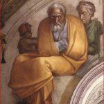 Michelangelo Buonarroti: particolare sinistro della lunetta con Giacobbe e Giuseppe, intorno al 1508
