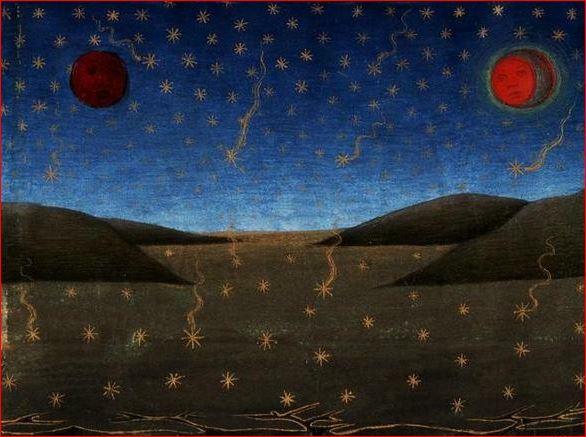 Cristoforo De Predis: Storie di san Gioacchino e sant'Anna - Morte del Sole, della Luna, e caduta delle stelle
