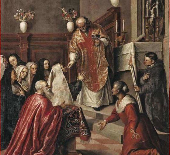 Palma il Giovane: Autoritratto, tecnica a olio su tela, 126 × 96 cm., Pinacoteca di Brera, Milano