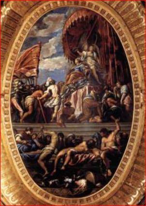 Giacomo Negretti. Venezia coronata dalla Vittoria (1584) Venezia, Sala del Maggior Consiglio di Palazzo Ducale.