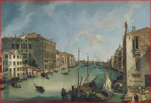Il Canal Grande visto da campo San Vio (1723), Madrid, Museo Tyssen – Bornemisza. Dimensioni della tela: (142 X 214 cm.)