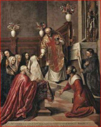 Giacomo Negretti. Pasquale Cicogna assiste alla Messa di Padre Balbi (ante 1585) Venezia, chiesa dei Crociferi.