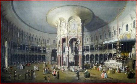 Canaletto. La rotonda di Ranelagh (1754), Londra, National Gallery. Dimensioni della tela 46 X 75 cm.