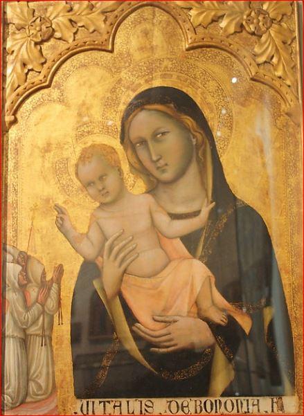 Vitale da Bologna: Madonna dei battuti (intorno al 1355), Vaticano