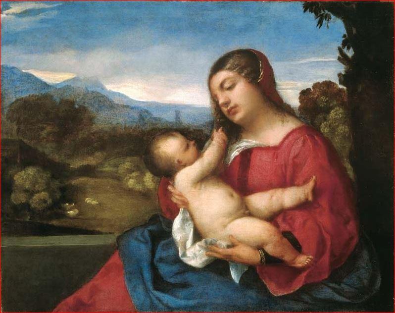 Tiziano - La Madonna Lochis (1508-10), Accademia Carrara, Bergamo