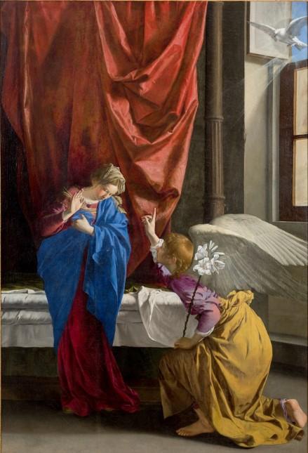 Orazio Gentileschi: Annunciazione di torino, olio su tela, anno 1623, Galleria Sabauda.