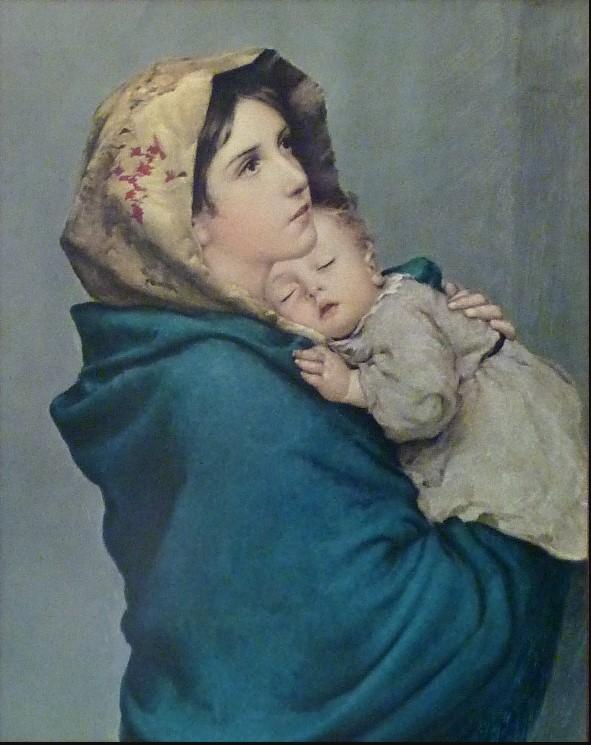 Roberto Ferruzzi: Madonna delle vie, o la Madonna del Riposo, tecnica a olio, anno 1897. Non si conosce l'attuale ubicazione.
