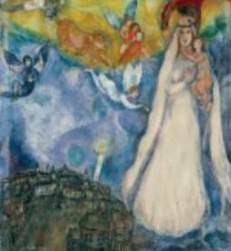 Marc Chagall - Madonna del villaggio (1938)